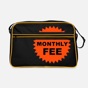 Slogan no monthly fee - Retro Bag