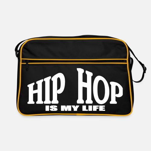 hip hop is my life - Borsa retrò. Fronte 8241d1f70e1b
