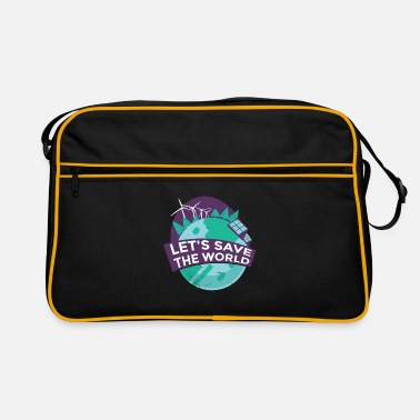 Lets Save The Lets save the world wind energy and solar power - Retro Bag