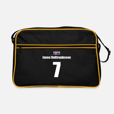 7 Imma Volltrunknson - Icelandic names football - Retro Bag