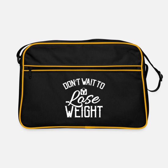 Love Bags & Backpacks - healthy eating - Retro Bag black/gold