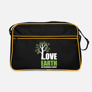 Atomkraft Love Earth - Use Renewable Energy - Retrotasche