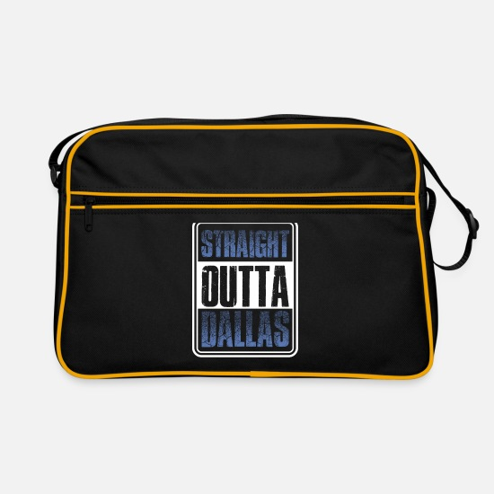 Out Bags & Backpacks - Straight from Dallas Texas gift - Retro Bag black/gold