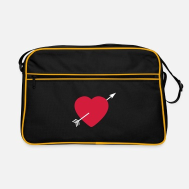 Serce Heart round with arrow - Retro taske