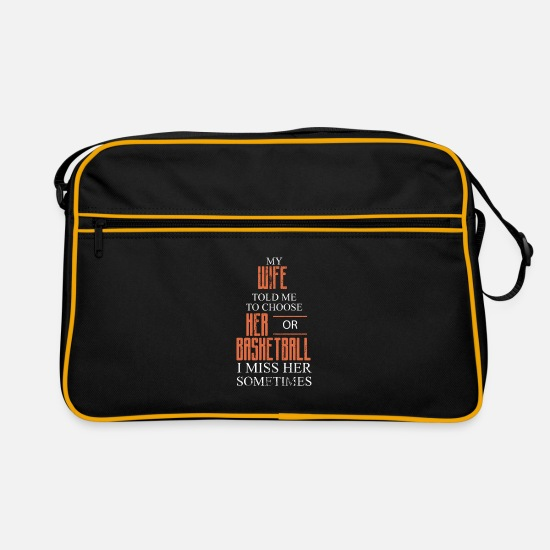 Gift Idea Bags & Backpacks - Basketball Sports - Retro Bag black/gold