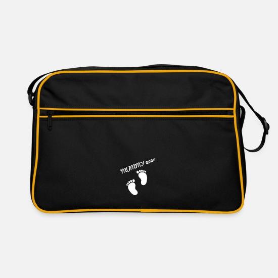 Gift Idea Bags & Backpacks - mom mummy 2020 - Retro Bag black/gold