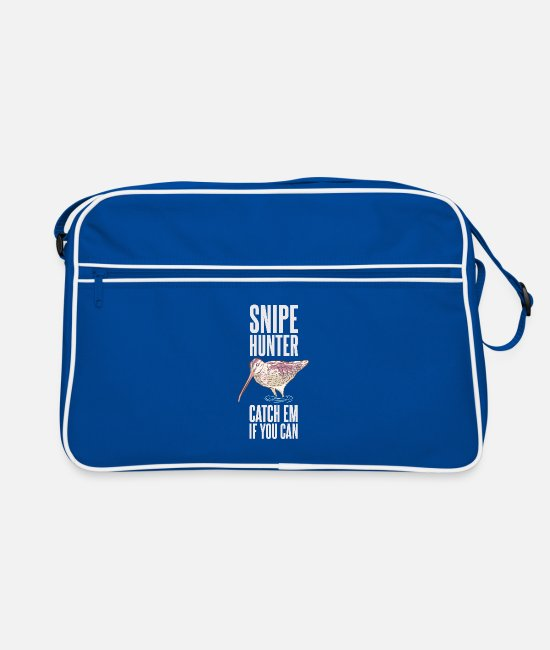 Snipe Hunter Bags & Backpacks - Snipe Hunter Catch Em If You Can - Funny Hunting - Retro Bag blue/white