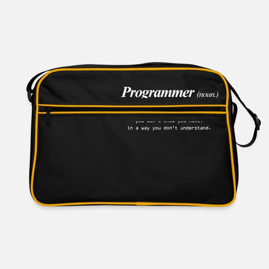 Star Bags & Backpacks - programmer - Retro Bag black/gold