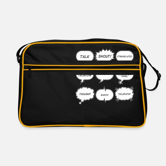 Thought Bags & Backpacks - Speech Bubble - Retro Bag black/gold