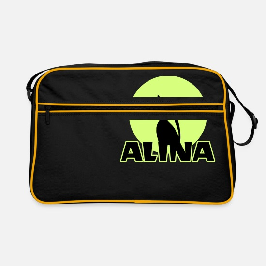 Birthday Bags & Backpacks - Alina Name day first name personal gift - Retro Bag black/gold