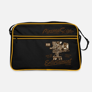 CINEMASCOPE - Cinema and Camera Shirt Motif - Retro Bag