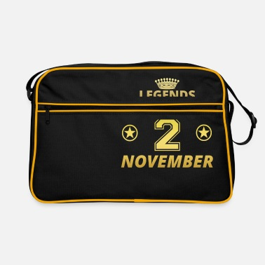 November 2 legends born birthday NOVEMBER 2 - Retro Bag