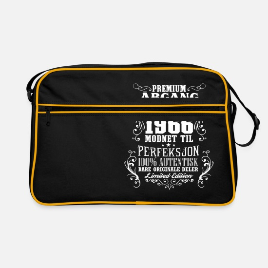 Birthday Bags & Backpacks - 1966 52 premium årgang bursdag gave NO - Retro Bag black/gold