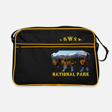National Yellowstone National Park Buffalo With Nature - Retro Bag