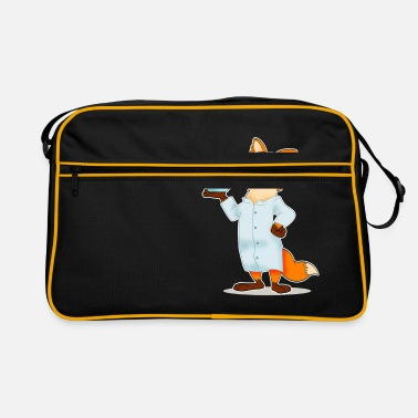 Biology Fox comic scientist chemistry biology - Retro Bag