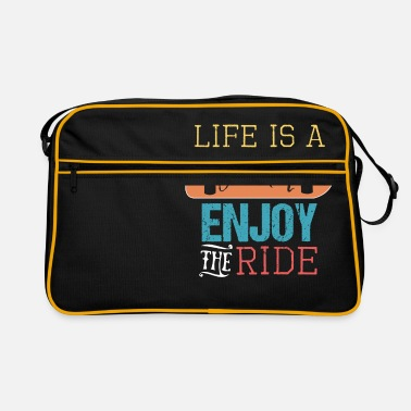 Journey LIFE IS A JOURNEY ENJOY THE RIDE skateboarder - Retro Bag