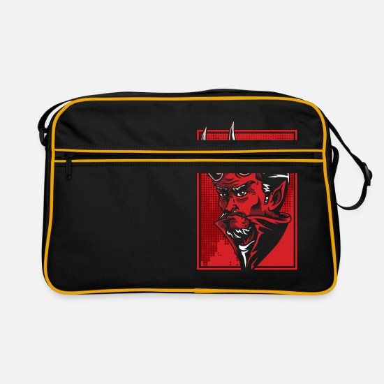 Gift Idea Bags & Backpacks - devil - Retro Bag black/gold