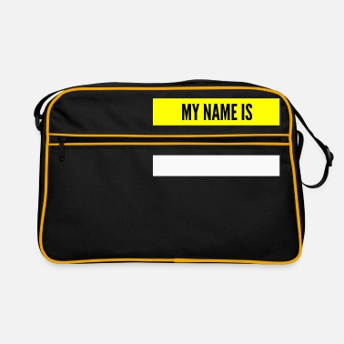 Name My name is My name is name tag - Retro Bag
