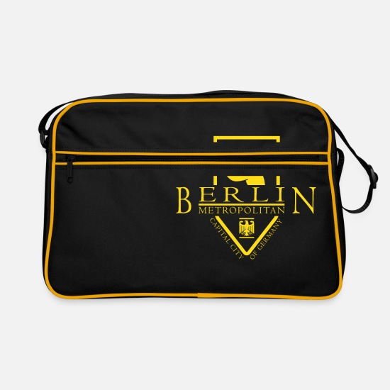 Berlin Bags & Backpacks - Berlin Metropolitan Germany - Retro Bag black/gold