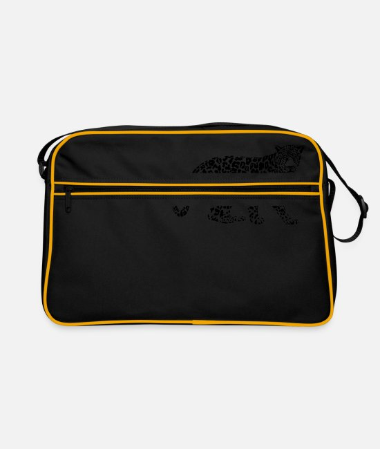 Proud Bags & Backpacks - Cheetah leopard black predator big cat jaguar - Retro Bag black/gold