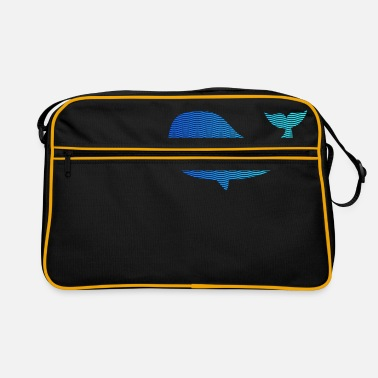 Wale wale from waves and sea - Retro Bag