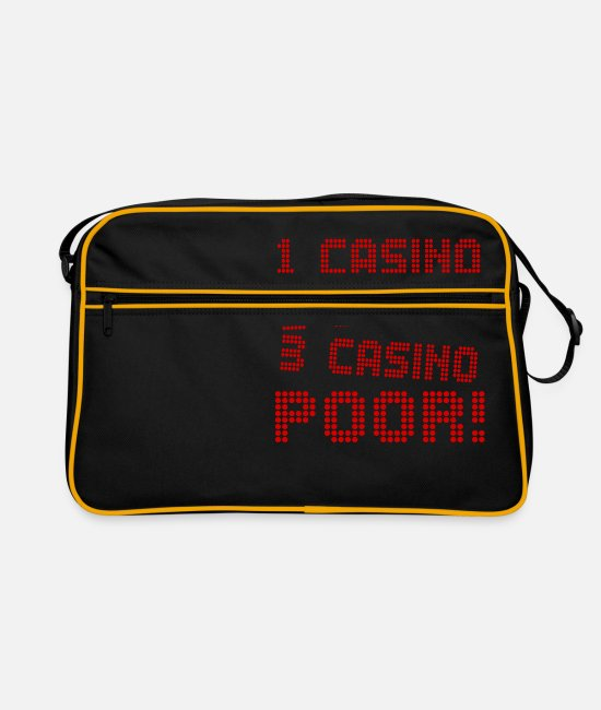 Bet Bags & Backpacks - 1 Casino 2 Casino 3 Casino Pour! - Retro Bag black/gold