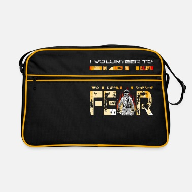Flame Volunteer Firefighter I Volunteer To Fight What - Retro Bag