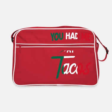 Humour Taco Mexican Lovers Vintage Sie hatten mich bei Tacos Fu - Retrotasche