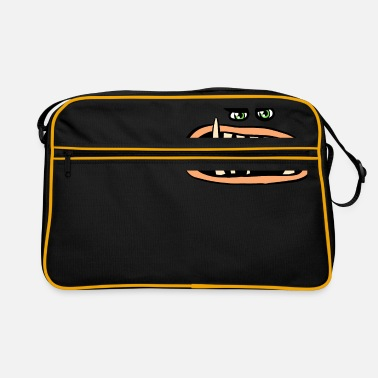 Monster Halloween Funny Monster Face - Retrotasche
