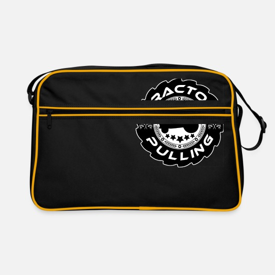 Tractor Bags & Backpacks - Tractor Pulling Logo - Retro Bag black/gold