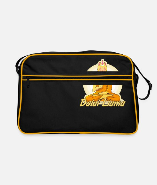 Tibeth Bags & Backpacks - Dalai LLama - Retro Bag black/gold