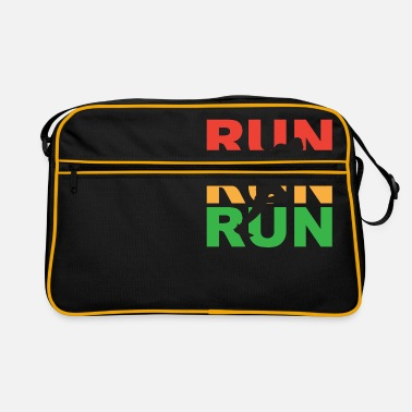 Daughter Run run run marathon jogger runner gift idea - Retro Bag