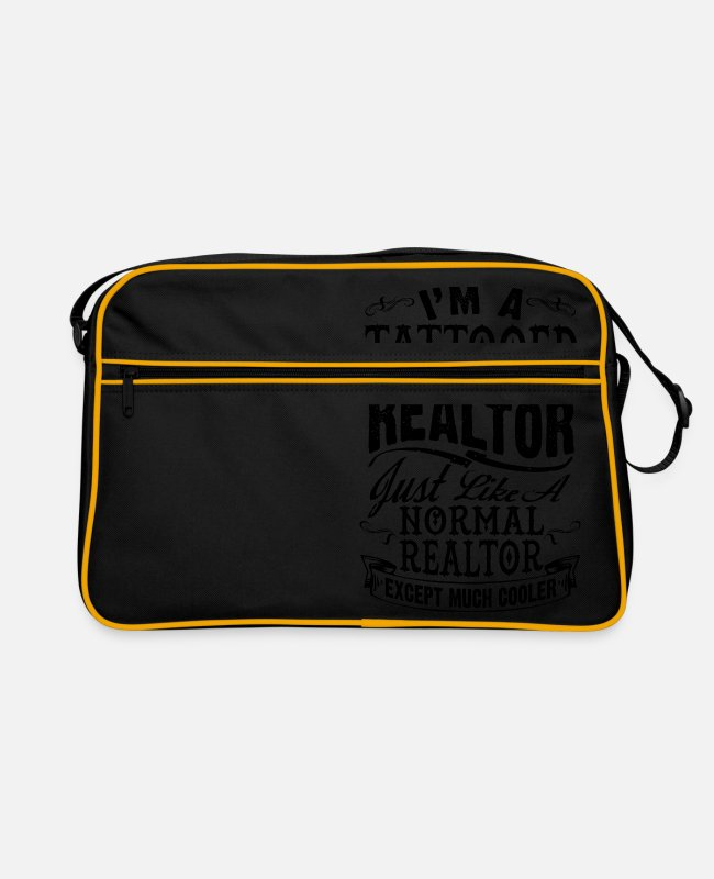 Estate Agent Bags & Backpacks - TATTOOED REALTOR B - Retro Bag black/gold
