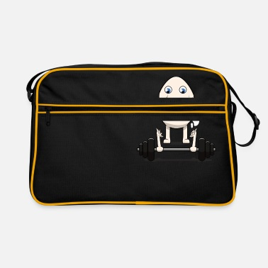 Gym Funny Weightlifting Egg Eggcident Sport Meme - Retro Bag