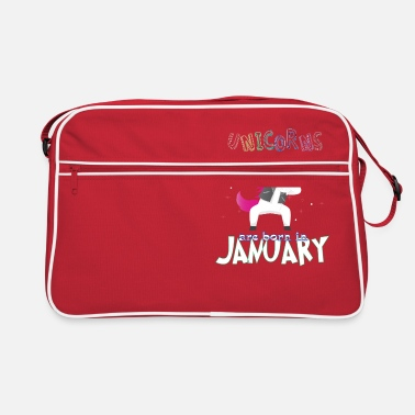 Born In Born Unicorns-Born January - Retro Bag