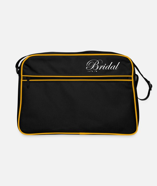 Maid Of Honor Bags & Backpacks - Wedding Word Art Brideal Party - Retro Bag black/gold