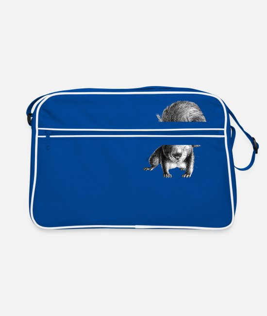 Hollywood Bags & Backpacks - curious squirrel - Retro Bag blue/white