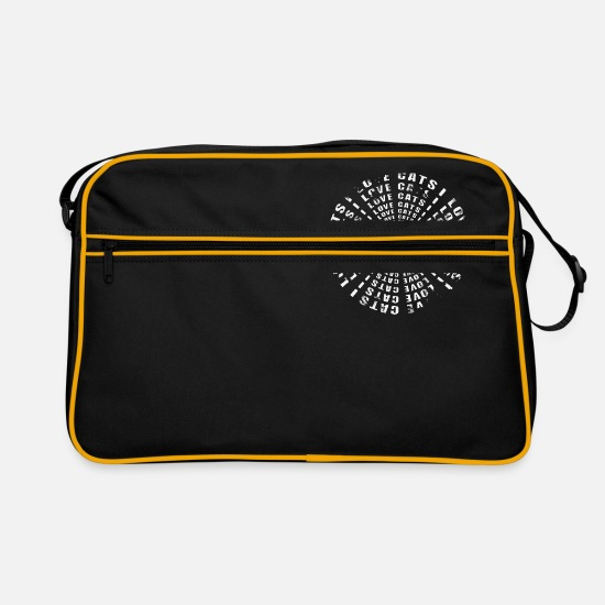 Pet Bags & Backpacks - I love cats - Retro Bag black/gold