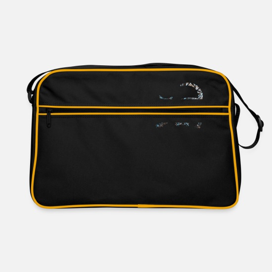 Cuddly Bags & Backpacks - Cat Cute Animal Cat - Retro Bag black/gold