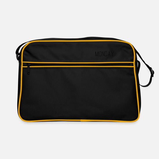 Stylish Bags & Backpacks - Monday - Retro Bag black/gold
