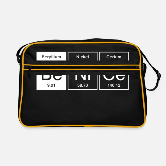 Birthday Bags & Backpacks - Nice - Be Nice - Retro Bag black/gold
