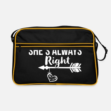 Always She's Always Right Couple Best Friends - BFF - Retrotasche