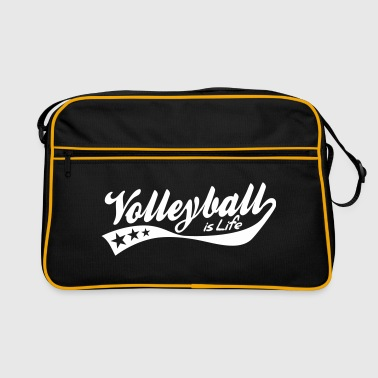 Volleybal volleyball is life - retro - Retro-tas