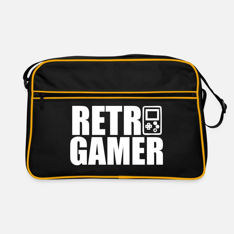 Retro Bags & Backpacks - Retro Gamer : Retro gaming - Retro Bag black/gold