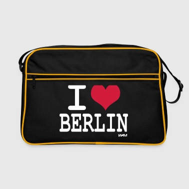 i love berlin by wam - Retro Tasche