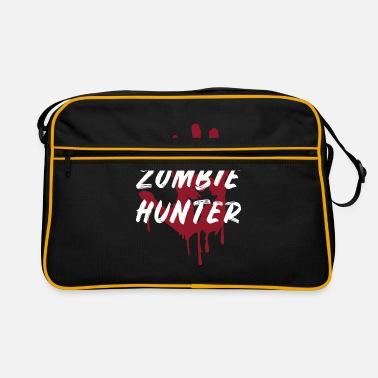 Halloween zombie hunter gift hand bloody scary - Retro Bag 9ea12b85c0d32
