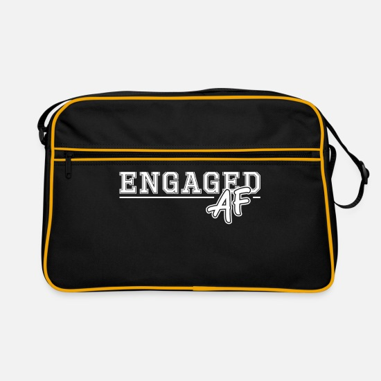 Bride Bags & Backpacks - engagement - Retro Bag black/gold