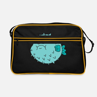 c427f3f0fe Puffer fish sea ocean under water - Retro Bag