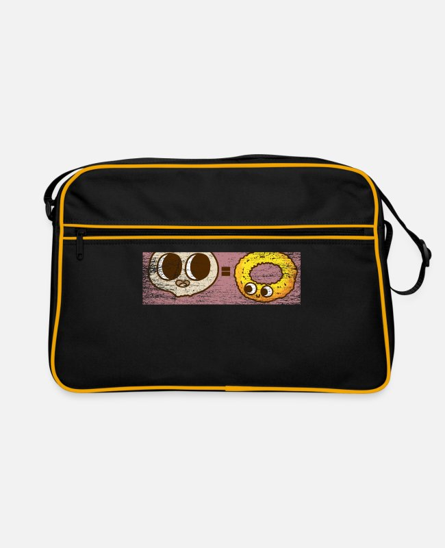 Lover Bags & Backpacks - Onion rings onions gift - Retro Bag black/gold