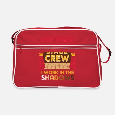 Charade Stage Crew I Work In The Shadows Funny Gift - Retro Bag